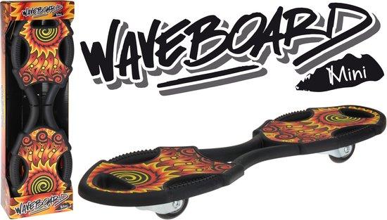 XQ Max Waveboard - Kinderen - Zwart/Rood/Geel