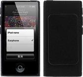 TPU Bescherm-Cover Hoes met Clip voor iPod Nano 7 Zwart