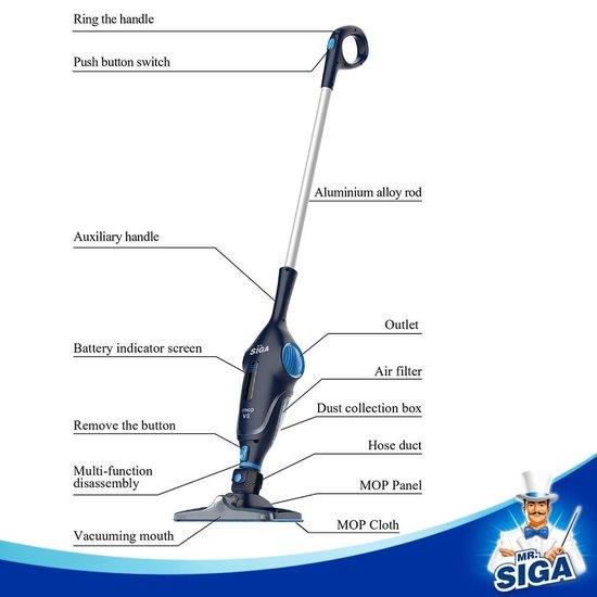 Mr. Siga IMOP V6 - Steelstofzuiger - 2 in 1