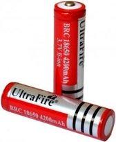 Ultrafire Oplaadbare batterij 18650 4200mAh (2stuks) - rood