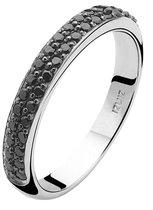 ZINZI zilveren aanschuifring zwart ZIR881Z