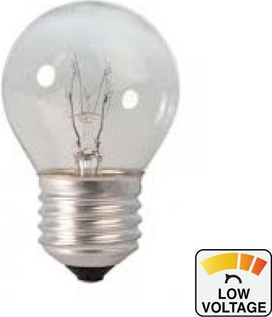Bol Com Calex 24 Volt E27 25 Watt Ball Lamp Clear