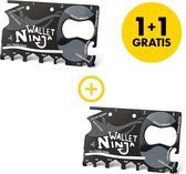 1+1 GRATIS Ninja Wallet® Creditcard Tool - Voor in je Portemonnee - Wallet Ninja - 18 in 1 Tool