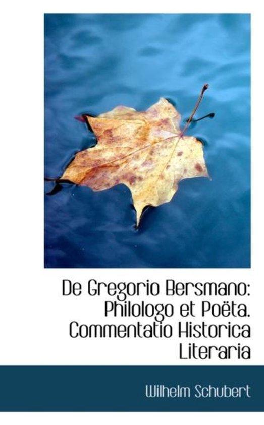 de Gregorio Bersmano