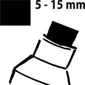 Krijtmarker Sigel 5-15mm afwasbaar wit