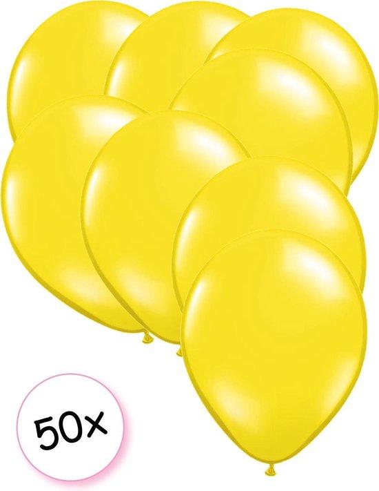 Ballonnen Geel 50 stuks 27 cm