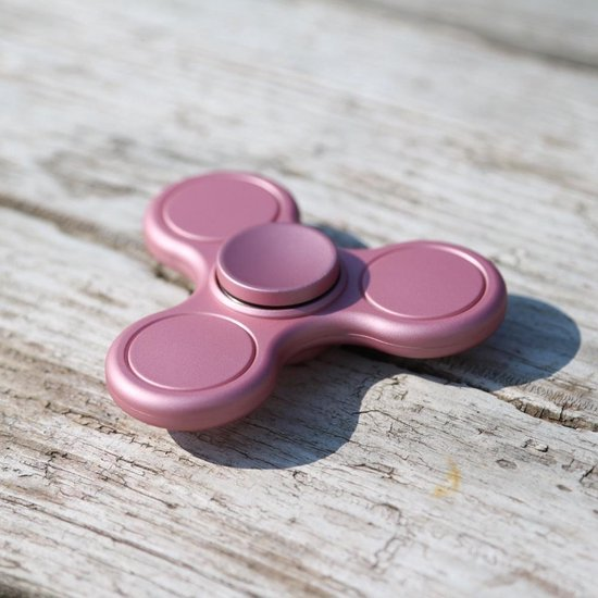 Fidget Spinner - Hand Spinner - Trinity – Mat roze fidget spinner met keramische lager