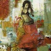 Arabische Schilderij Buikdanseres Qif