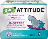 Attitude Eco Billendoekjes - 3 x 72 stuks