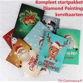 Diamond Painting - Kerstkaarten 8 Stuks Daimond Diamant- Startpakket Met Gratis Opbergdoos 28 Vakken - TH Commerce -1236