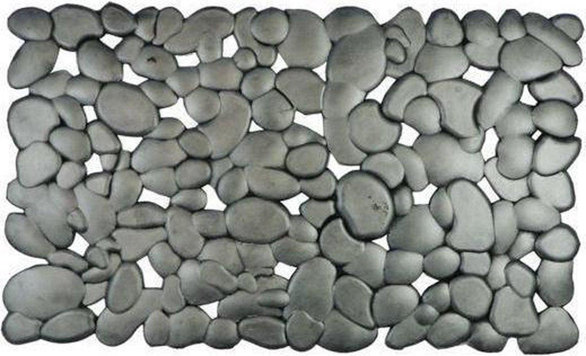Mars & More - Rubbermat - Deurmat - Zilver Stenen - 45x75cm - Mars & More