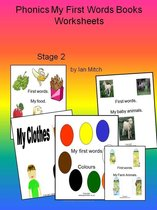 Omslag Phonics My First Words Books Worksheets