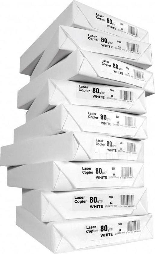 Afbeelding van Wit A4 Printpapier 80grams (500 Vel)