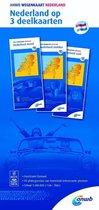 ANWB wegenkaart - Nederland op 3 deelkaarten noord midden zud 1:200000