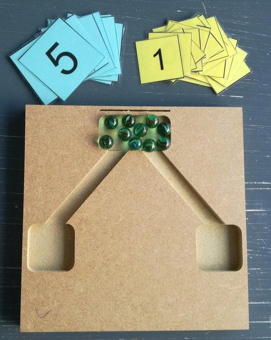 Thumbnail van een extra afbeelding van het spel Splitsingspel (knikkers)