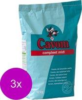 Cavom Compleet Midi - Hondenvoer - 3 x 10 kg
