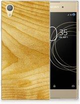 Sony Xperia XA1 Plus Uniek TPU Hoesje Licht Hout