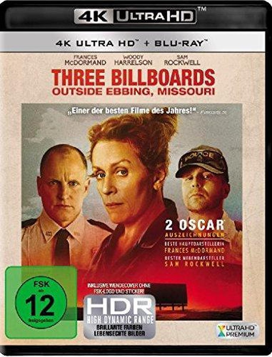 Three Billboards Outside Ebbing, Missouri (Ultra HD Blu-ray & Blu-ray)-