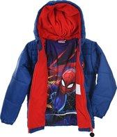 Marvel Spider-man Jongens Winterjas - blauw - Maat 122/128
