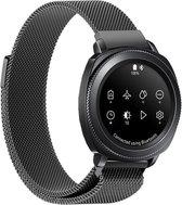 Milanese Horloge Band Voor Samsung Gear Sport - Milanees Strap Armband Watchband -  Sportband Polsband - Zwart