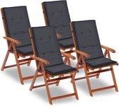 Tuinstoel kussens Antraciet 4 STUKS / kussen voor Tuin stoelen / kussen voor Buiten stoelen / kussen voor Balkon stoelen / kussen voor Relax stoelen