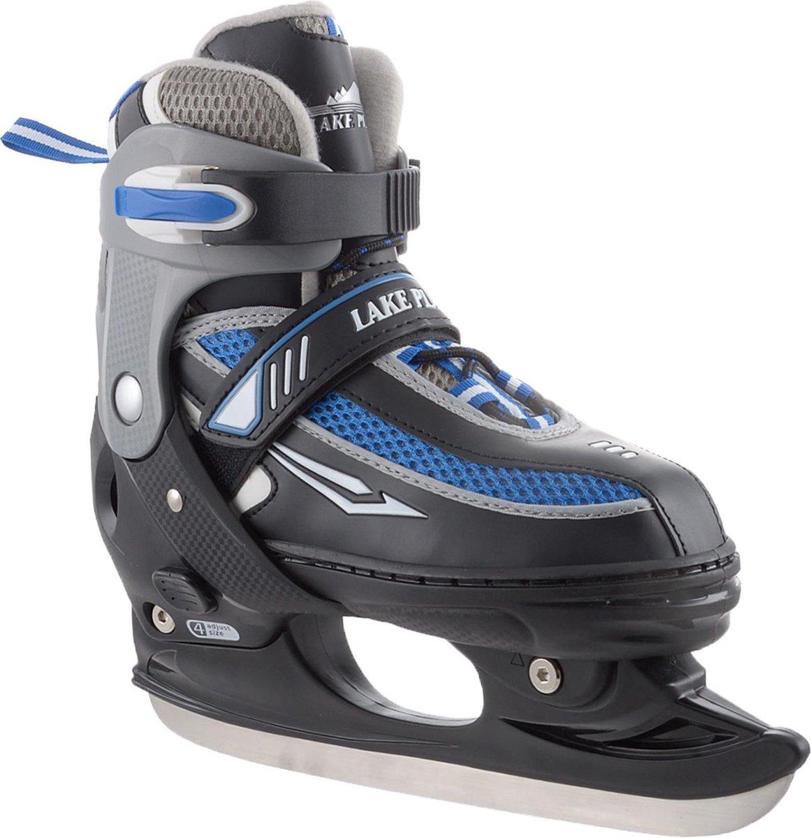 Zandstra Lake Placid IJshockeyschaats Jr (verstelbaar) - 35-39 - Zwart