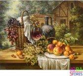 """Diamond Painting """"JobaStores®"""" Fruit & Wijn - volledig - 30x40cm"""