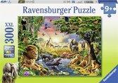 Ravensburger puzzel Avondzon bij de Drinkplaats - Legpuzzel - 300XXL stukjes