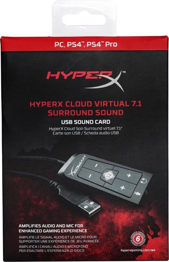 HyperX Cloud - Virtual 7.1 Surround Sound USB Card - HyperX
