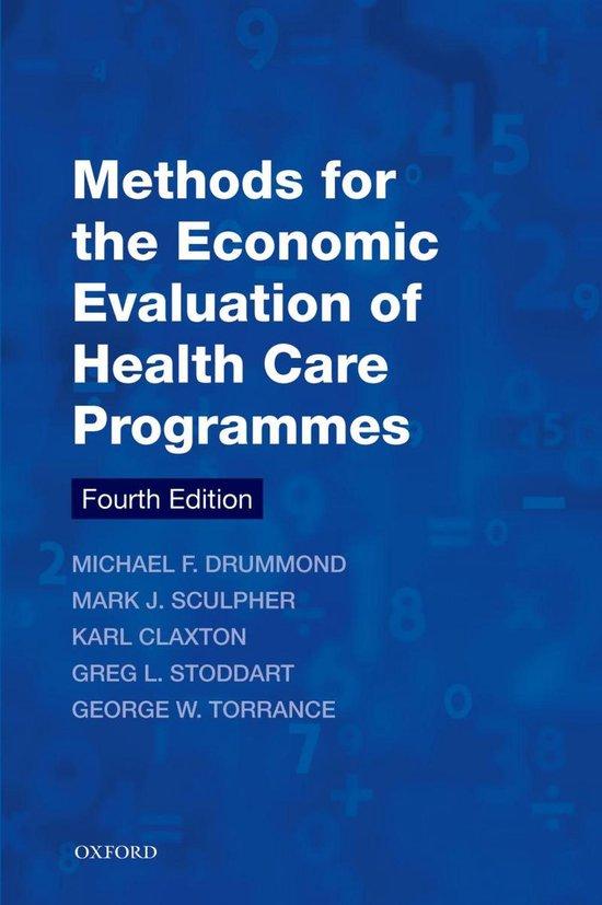 Boek cover Methods for the Economic Evaluation of Health Care Programmes van Michael F. Drummond (Paperback)