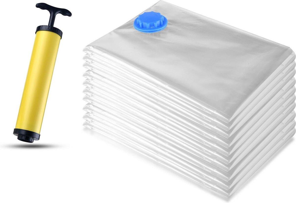 VMCA Vacuumzakken Set 10 Stuks 1 Pomp In Verpakking Vacuum Opbergzakken - Voor Kledingkast Koffers -