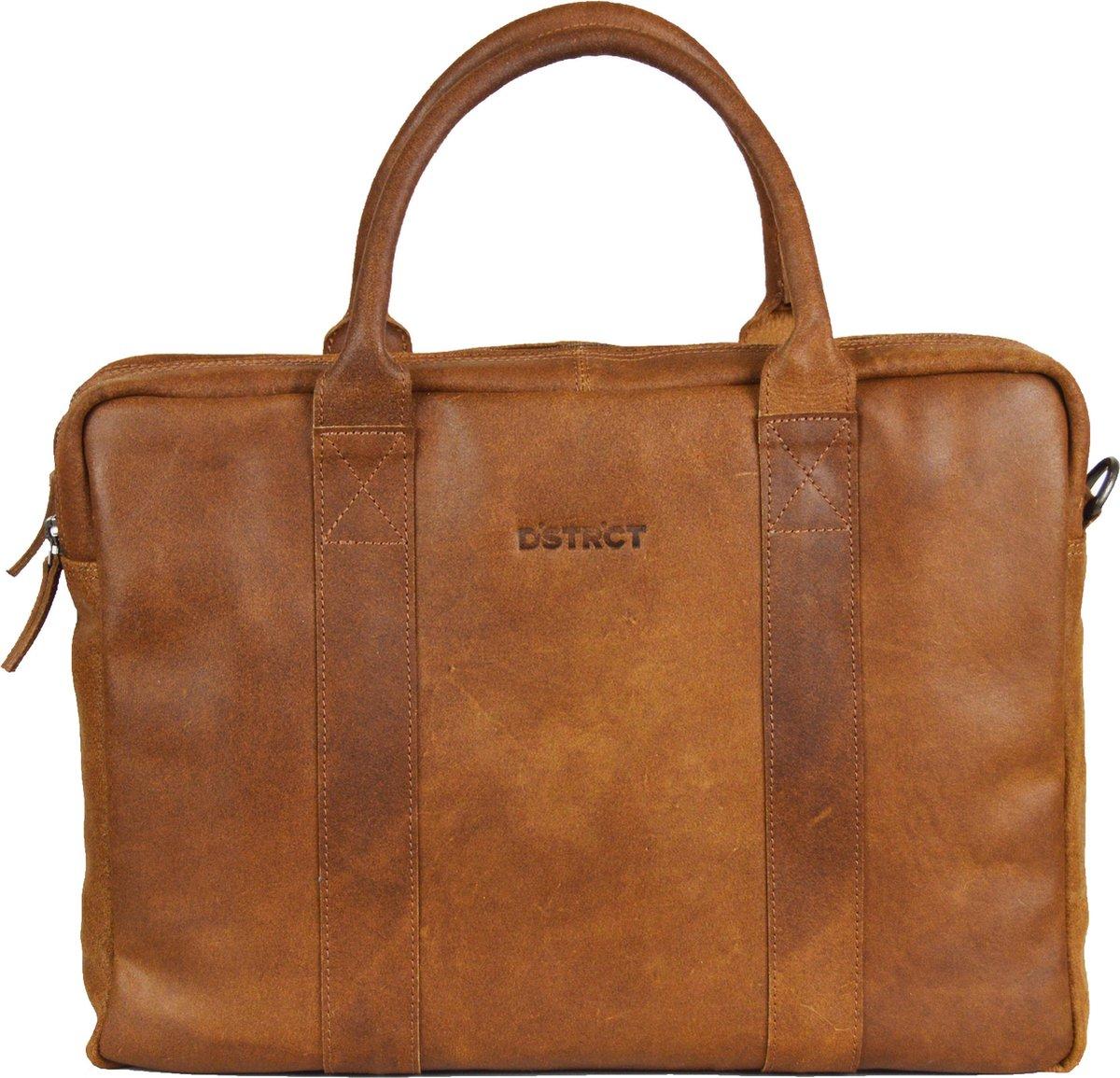DSTRCT Limited Leren Laptoptas - 15,6 inch - Bruin