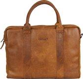 DSTRCT Limited Leren Laptoptas - 15,6 inch - Cognac