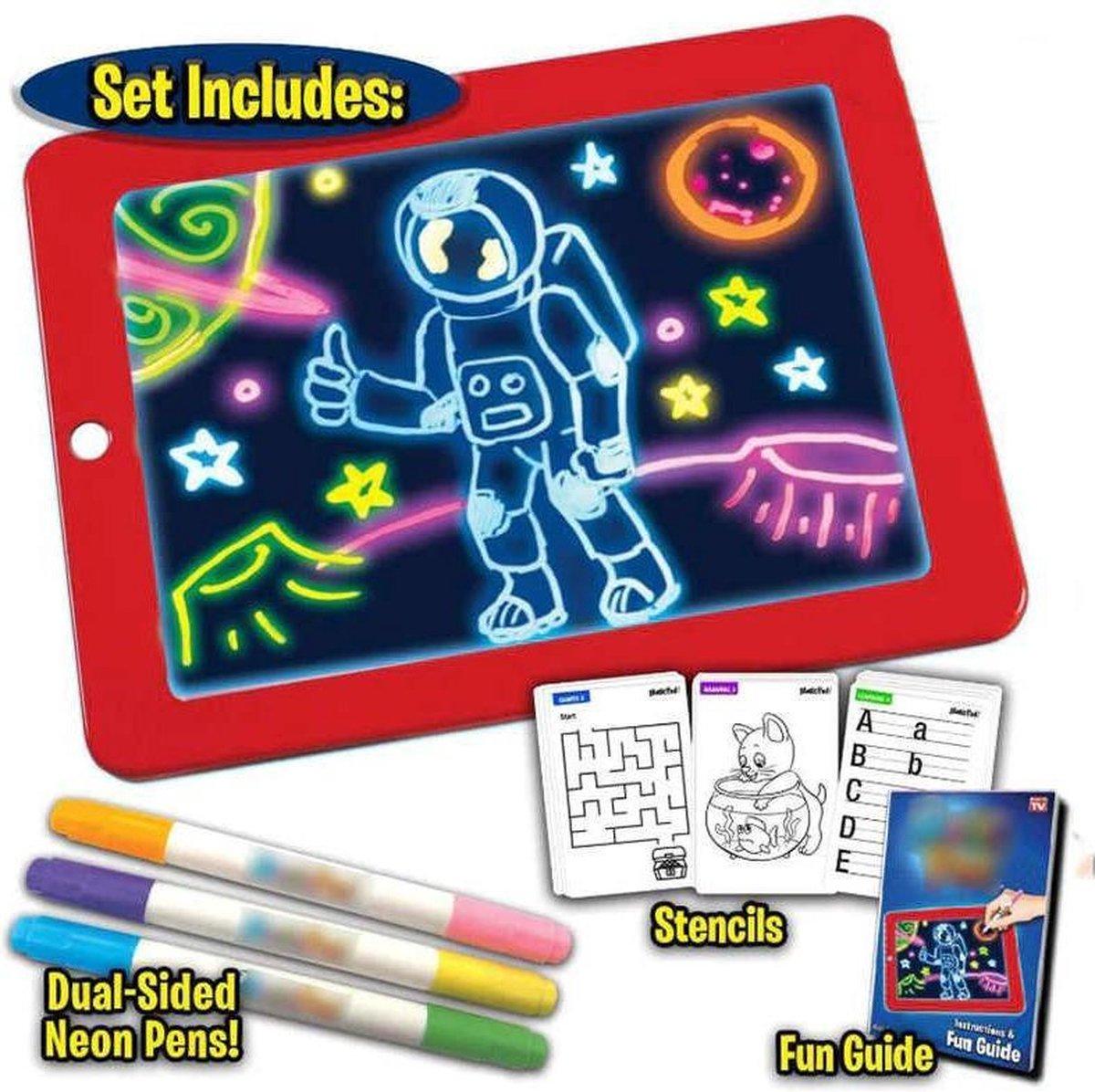 3D Magische Elektronisch Magnetische Schrijfbord - Digitale Tekentablet - Drawing Tablet - Teken Tablet Met LCD Scherm - 26 x 19 cm - Rood