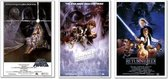 Stars Wars posters - set van 3 verschillende mooie posters - formaat 61x91,5cm -  aanbieding