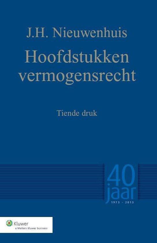 Hoofdstukken vermogensrecht - J.H. Nieuwenhuis |