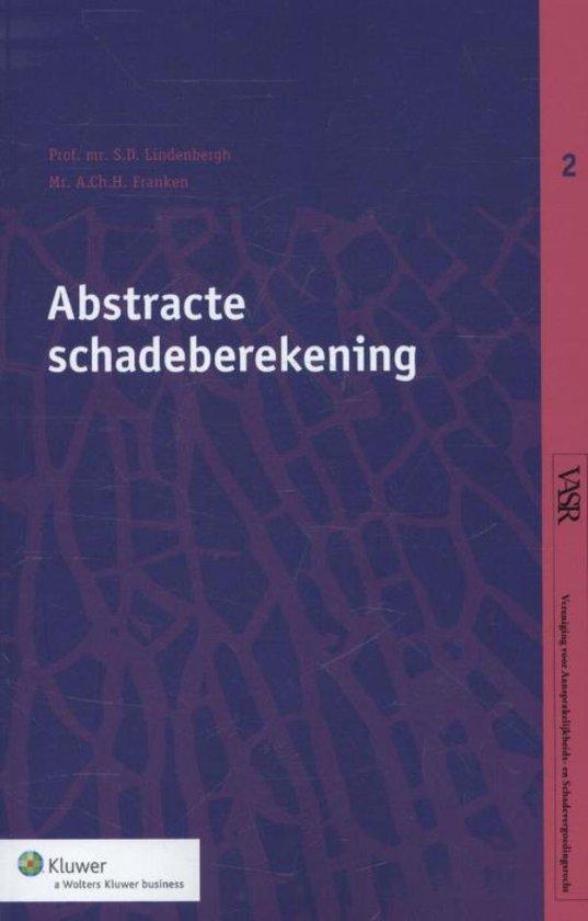 Abstracte schadeberekening - S.D. Lindenbergh |