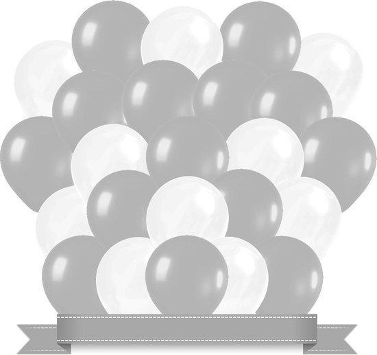 Ballonnen Zilver / Wit (30ST)