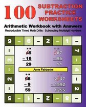 100 Subtraction Practice Worksheets Arithmetic Workbook with Answers