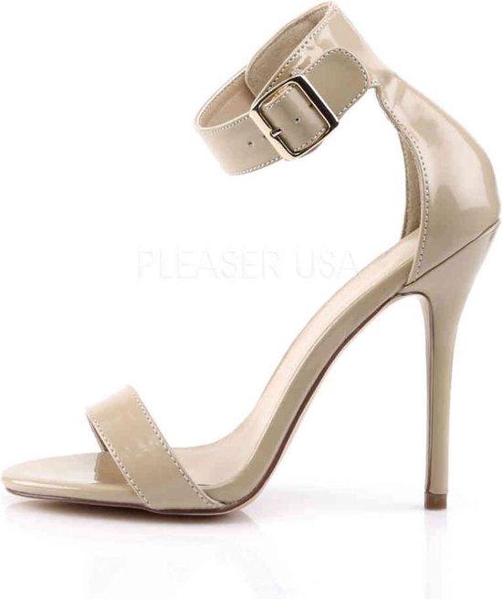 Pleaser Sandaal Met Enkelband -41 Shoes- Amuse-10 Us 11 Creme Zp378Y