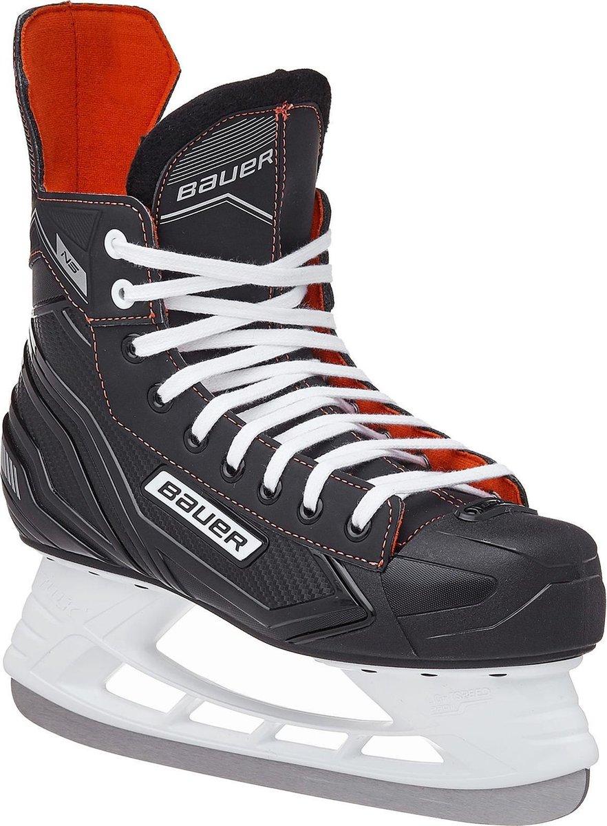 Bauer Ijshockeyschaatsen Ns Skate Junior Zwart/rood Maat 26