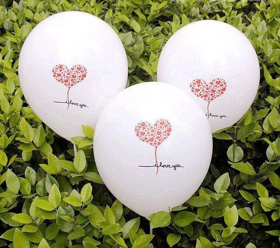 Ballonnen Love You Hearts 8 stuks 30 cm