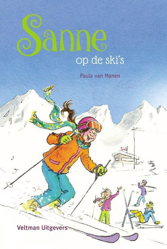 Boek cover Sanne  -   Sanne op de skis van Paula van Manen