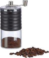 relaxdays handmatige koffiemolen design - bonenmaler - koffiebonenmaler - handmolen zwart
