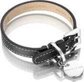 Hennessy and Sons Royal - Hondenhalsband - Zwart - maat S