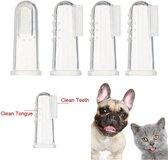 2 x Vinger Tandenborstel voor Hond of Kat