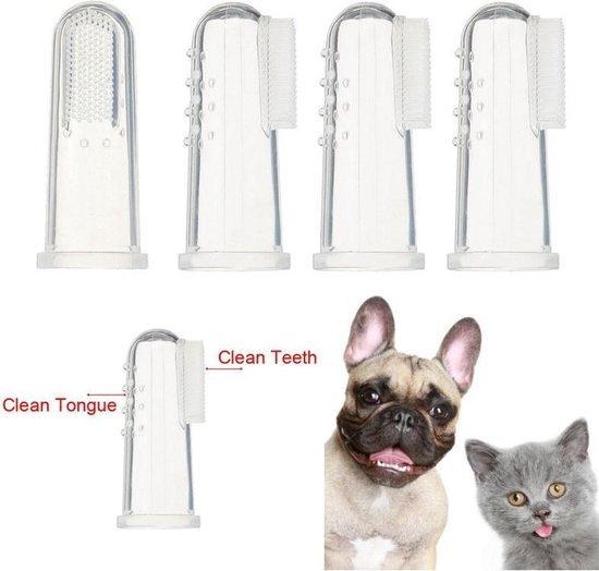 NBH - 2 Stuks Vinger Tandenborstels voor Hond of Poes