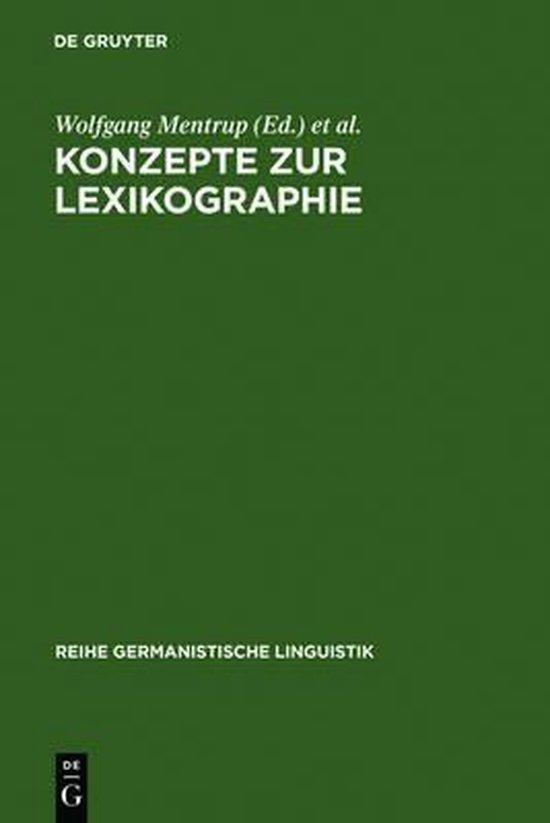 Konzepte Zur Lexikographie