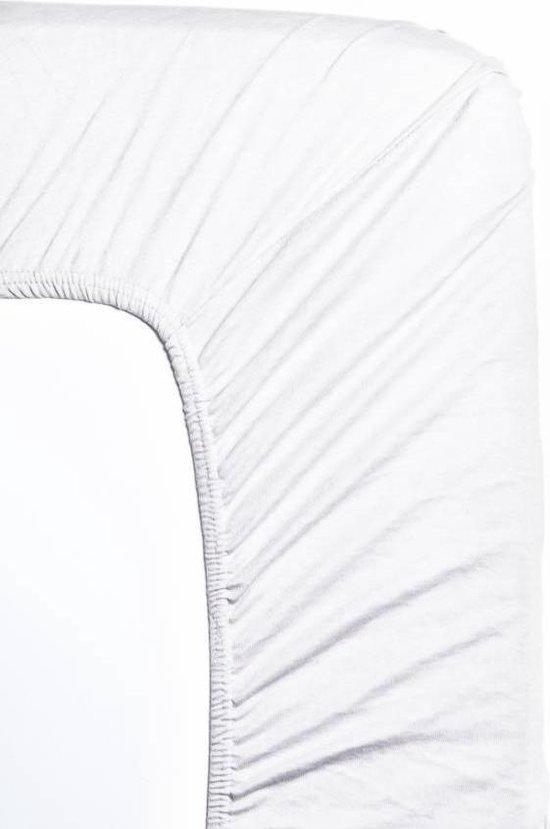 TrendyBed Hoeslaken - Jersey - 1 Persoons 80/90x200 cm - Wit