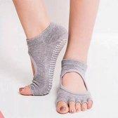 Yogasokken & Pilatessokken - Antislip sokken * 'Ballerina' - grijs - meerdere kleuren verkrijgbaar - Pilateswinkel * Yoga sokken * Pilates sokken
